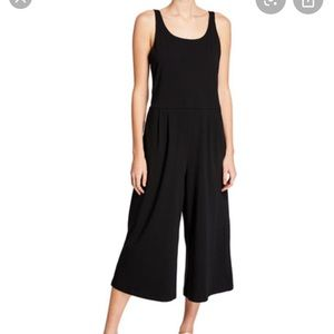 NWT Eileen Fisher Black Jersey Cropped Jumpsuit M